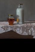 חלב ודבש ציור שמן על בד אמנות ישראלית