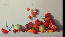עגבניות ציור שמן על בד אמנות ישראלית