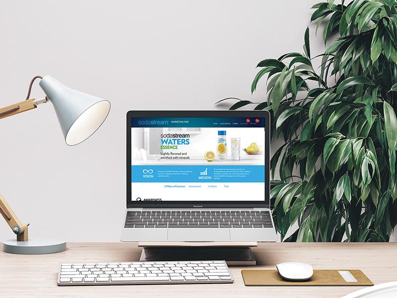 UX/UI לפלטפורמה פנים-ארגונית של SodaStream