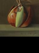 הבצל הכי מפחיד ציור מהתבוננות טבע דומם אמנות ישראלית