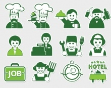 my concept set icons for site Food Professional