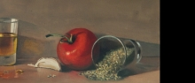 רוטב עגבניות בסיסי ציור שמן על בד  אמנות ישראלית טבע דומם