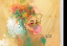 Bubble Gum Funky Girl