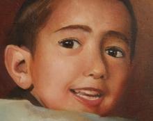 ילד ציור שמן על בד פורטרט אמנות ישראלית