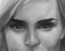אמה ווטסון Emma Watson רישום פורטרט בהזמנה אמנות ישראלית