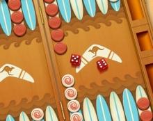 לוח שש בש למשחק הפייסבוק Backgammon Live