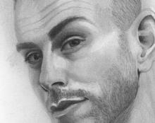 אסף אבידן פורטרט ציור רישום בהזמנה אמנות ישראלית