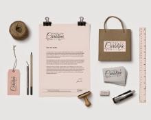 עיצוב לוגו ומיתוג למעצבת אופנה /  קרולין