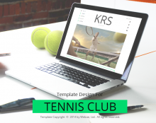Tennis Club Template Design