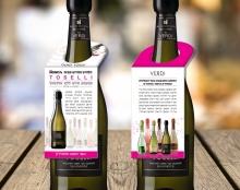 תווית צוואר בקבוק לסדרת יינות ורדי