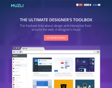 Muzli - chrome extension for designers