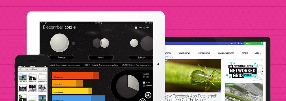 אפיון, עיצוב ומיתוג אתרים ואפליקציות