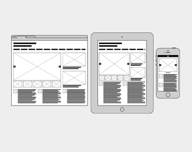 Wireframes for illustrator