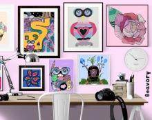 Lily wall prints