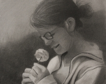פורטרט אמנותישראלית אשה צעירה