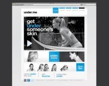 UNDER.ME, בר רפאלי. עיצוב אתר ופרינט