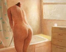 ציור שמן אמנות ישראלית עירום