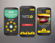 Car Trivia Game UI & Graphics