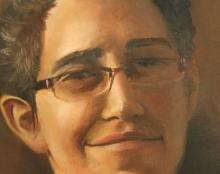 פורטרט דיוקן עצמי שמן על בד אמנות ישראלית