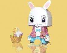 אבן נייר ומספריים / מודעת פרסום לתערוכת צעצועים העשויים מנייר בת
