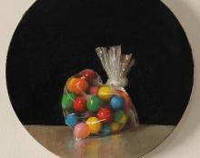 candy heart ציור שמן על בד אומנות ישראלית