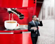 מודעת איחוד למכונת קפה