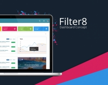 Filtr8 Dashboard Concept UX/UI