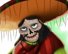 El Lagarto  Original Character Design for Los Muertos