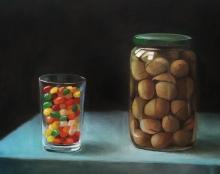 ציור טבע דומם מהתבוננות אמנות ישראלית
