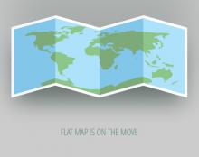 מפת העולם נפתחת באנימציית גיף