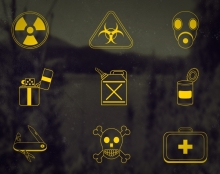 Dooms Day Icons Set