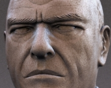 Hank Schrader form Breaking Bad sculpture