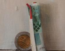 כסף ציור שמן אומנות ישראלית
