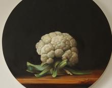 כרובית ציור שמן על בד אמנות ישראלית