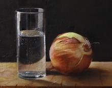 ציור טבע דומם מהתבוננות שמן על בד אמנות ישראלית