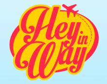Logo + Iphone App Hey in Way