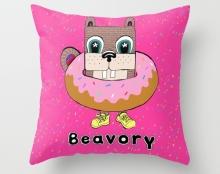 Sprinkle donut pillow