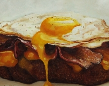 bacon and egg on breard