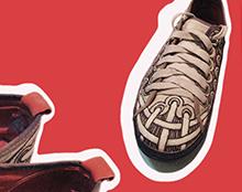 איור על נעליים