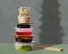 טייקאווי - ציור מהתבוננות שמן על בד אמנות ישראלית