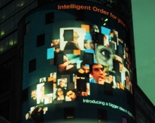 פרסומת וידאו על מגדל נאסדק בניו-יורק