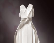 שמלת כלה מאוריגמי