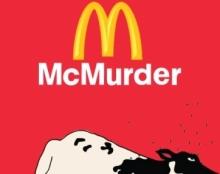עיצוב כרזה נגד התעללות בפרות והריגתן למען מכירה ואכילת בשר בחברה