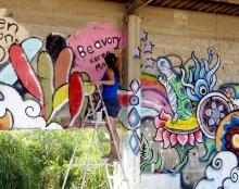 ציור קיר בת ים - Beavory & Ellen