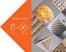 Garibi Origami website and printed portfolio