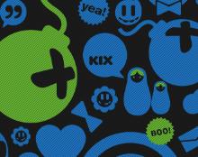 Kix invite  theme
