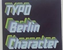 פוסטר typo berlin character