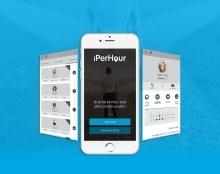 אפיון ועיצוב מחודשים למסכי אפליקציית iperhour