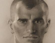 רישום פורטרט נתן לוי אמנויות לחימה אמנות ישראלית