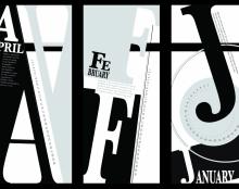 עיצוב לוח שנה טיפוגרפי